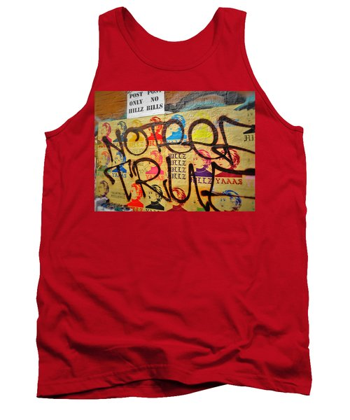 Post No Bills Hillary Clinton  Tank Top