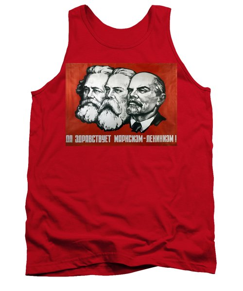 Poster Depicting Karl Marx Friedrich Engels And Lenin Tank Top