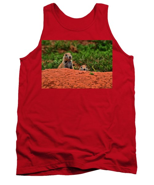 Tank Top featuring the photograph Prairie Dogs 004 by George Bostian