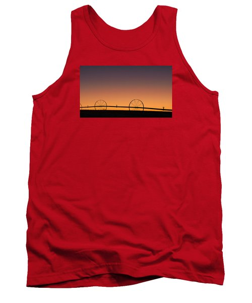 Tank Top featuring the photograph Pre-dawn Orange Sky by Monte Stevens
