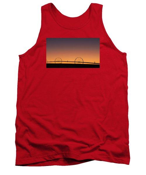 Pre-dawn Orange Sky Tank Top by Monte Stevens