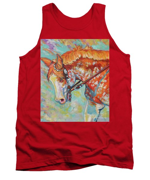 Tank Top featuring the painting Pretty Paint by Jenn Cunningham