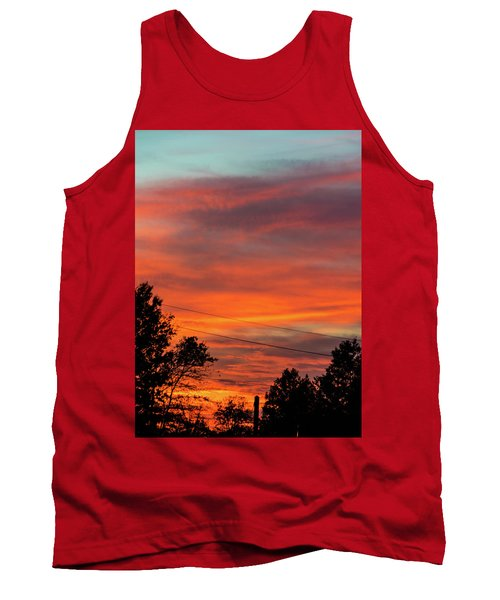 Tank Top featuring the photograph Princeton Junction Sunset by Steven Richman