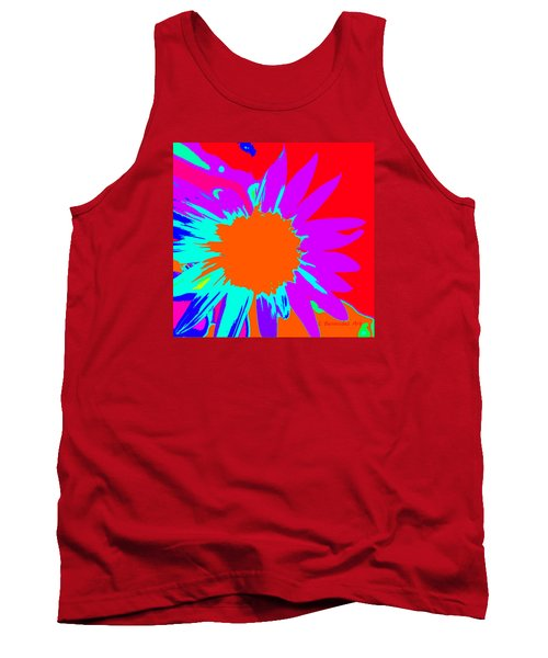 Psychedelic Sunflower Tank Top