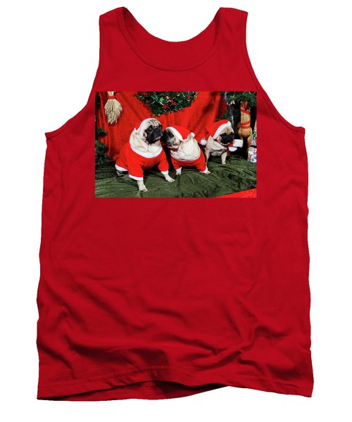 Pugs Dressed As Father-christmas Tank Top