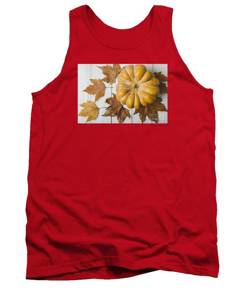 Pumkin And Maple Leaves Tank Top