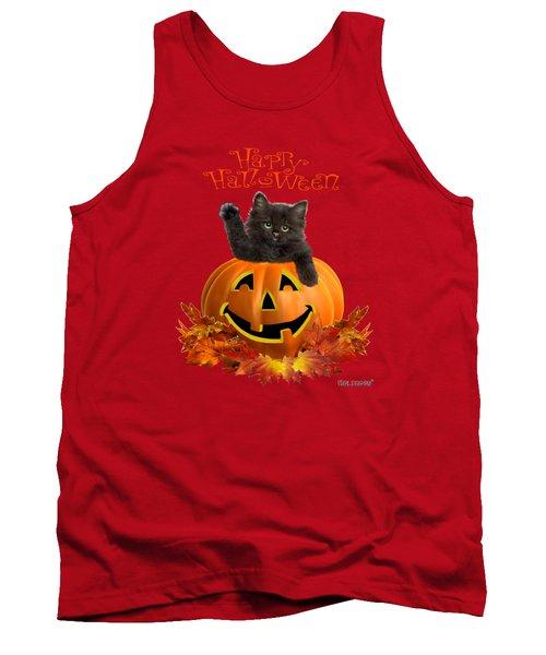 Pumpkin Kitty Tank Top by Glenn Holbrook