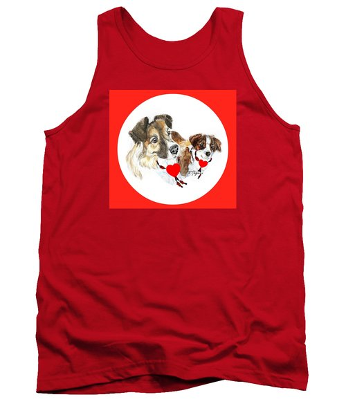Puppy Christmas Tank Top