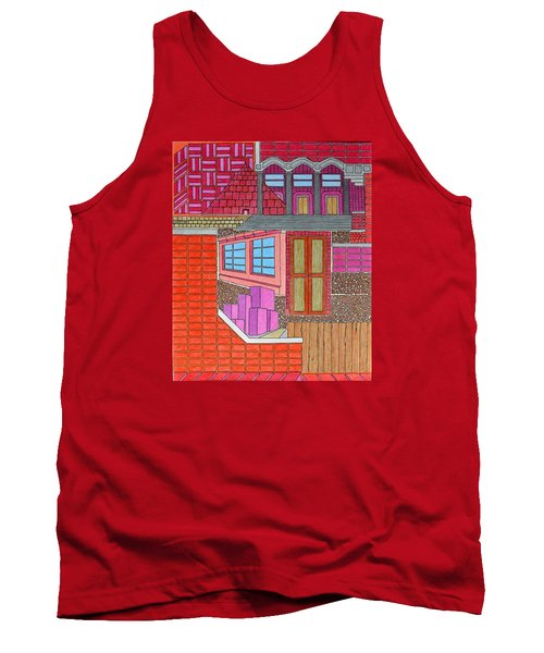 Purple Buildings Tank Top