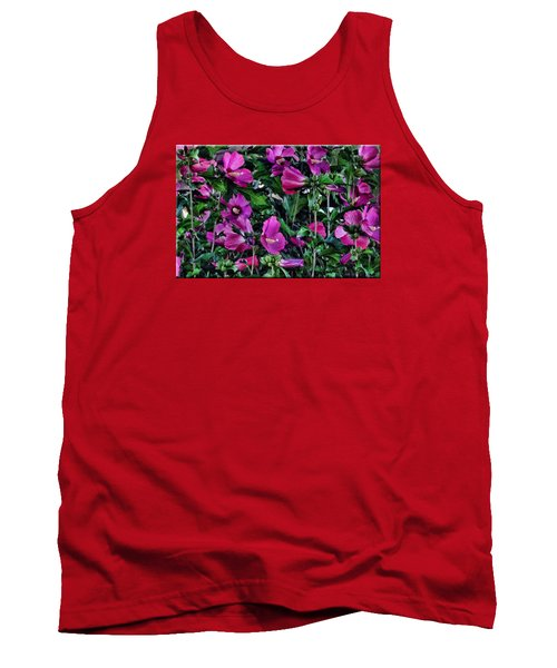 Purple Flowers Tank Top by Mikki Cucuzzo