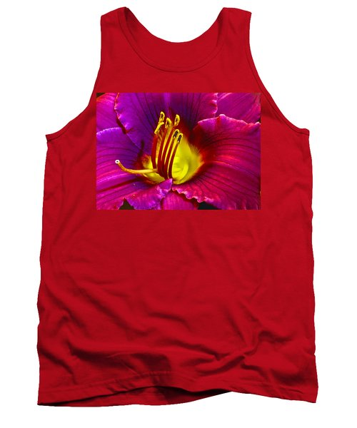 Tank Top featuring the photograph Purple Lily by Bill Barber