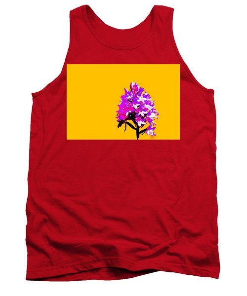 Orange Pyramid Orchid  Tank Top by Richard Patmore