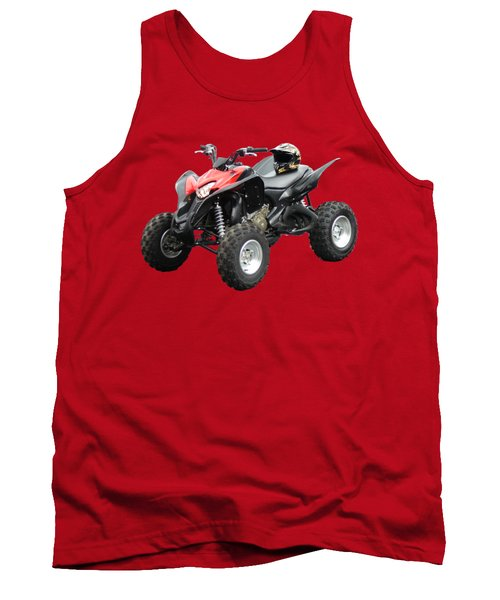 Quad Bike And Helmet Tank Top