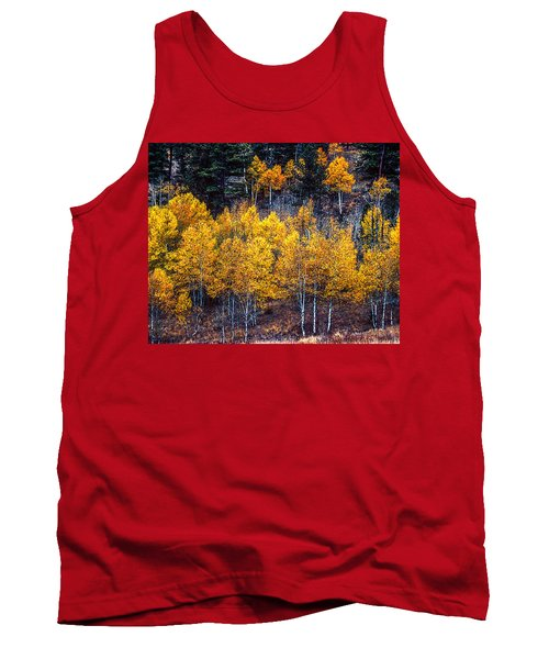 Aspen In Fall Colors In Eleven Mile Canyon Colorado Tank Top by John Brink
