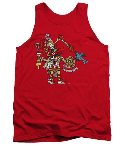 Quetzalcoatl In Human Warrior Form - Codex Magliabechiano Tank Top by Serge Averbukh