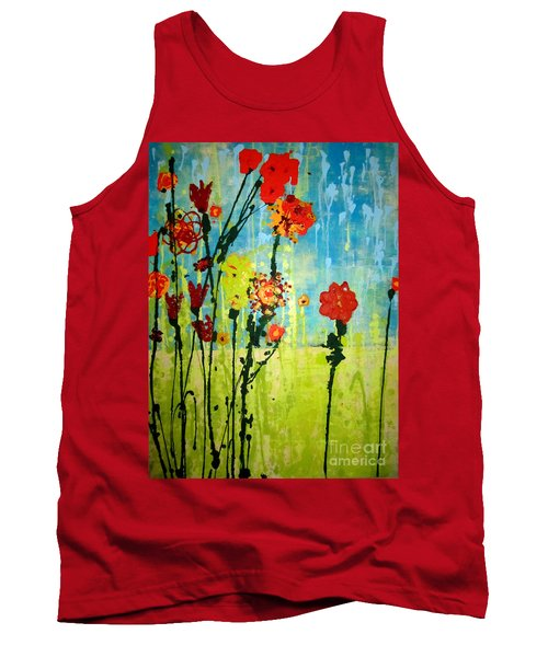 Tank Top featuring the painting Rain Or Shine by Ashley Price