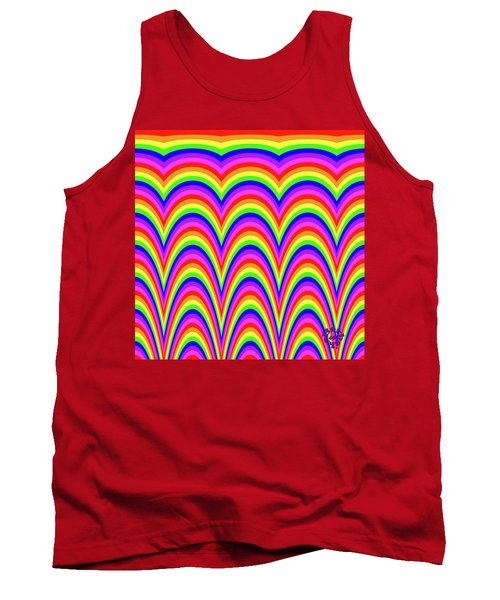 Tank Top featuring the digital art Rainbow #4 by Barbara Tristan