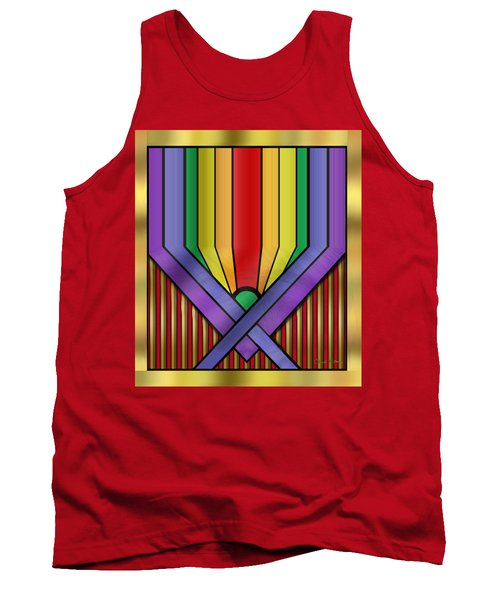 Tank Top featuring the digital art Rainbow Base Transparent by Chuck Staley