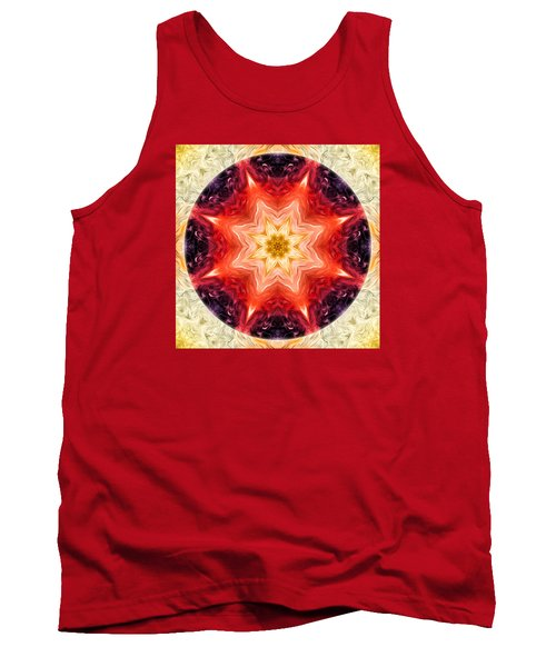 Rainbow Burst Mandala Tank Top