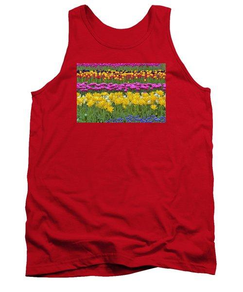 Rainbow Flowers Tank Top