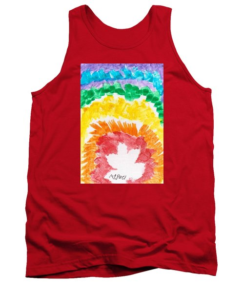 Tank Top featuring the painting Rainbow Leaf by Artists With Autism Inc