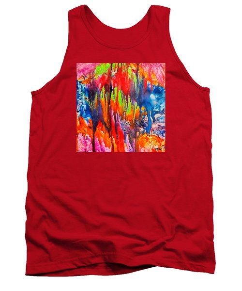 Tank Top featuring the painting Raindrops On The Window by Dragica  Micki Fortuna