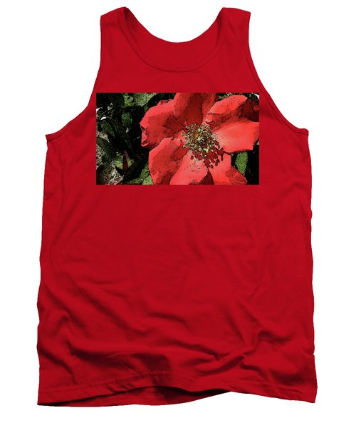 Tank Top featuring the photograph Rambling Rose by Donna G Smith