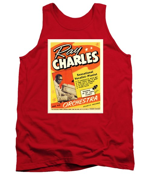Ray Charles Rock N Roll Concert Poster 1950s Tank Top
