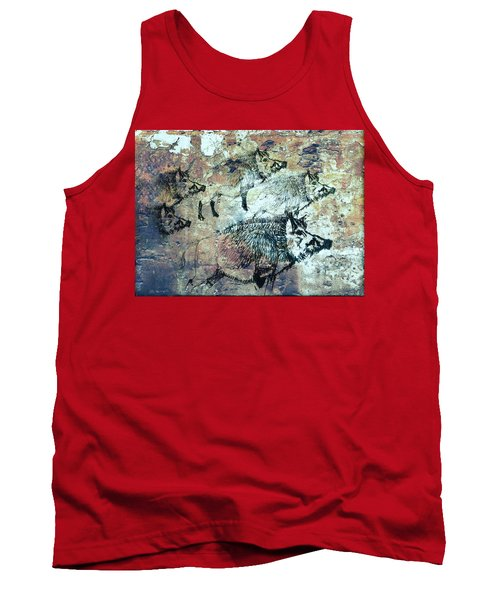 Wild Boars Tank Top by Larry Campbell