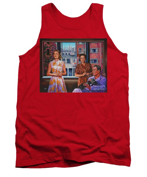 Tank Top featuring the painting Rear Window by Michael Frank