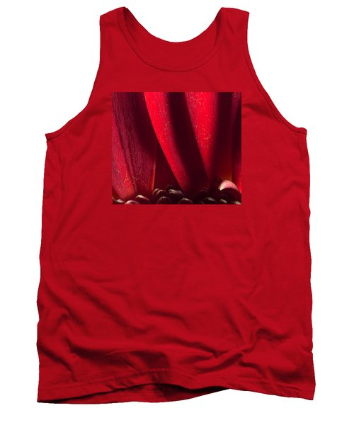 Golden Pollen Red Chrysanthemum Tank Top