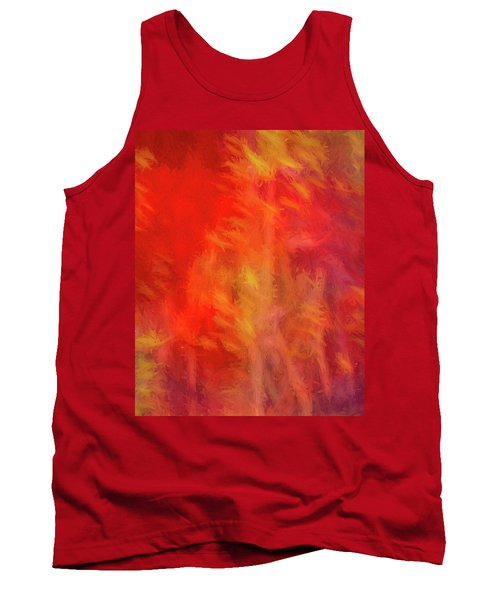 Red Abstract Tank Top