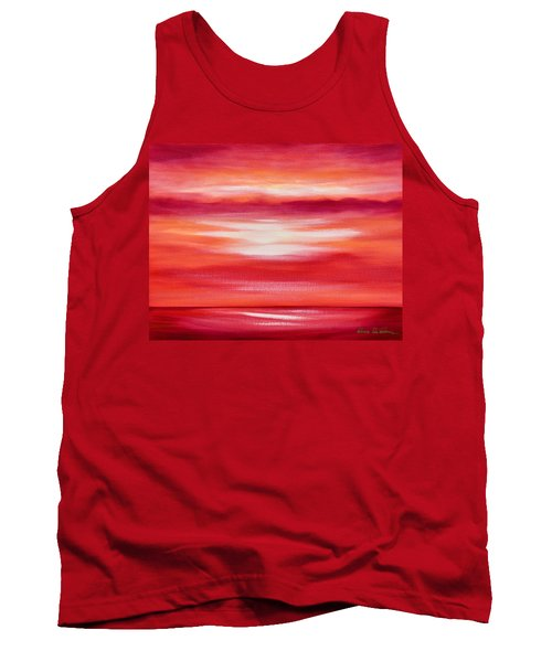 Red Abstract Sunset Tank Top