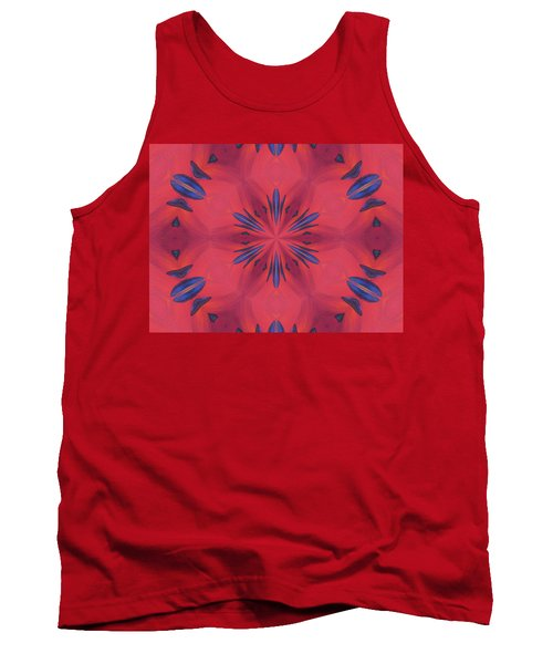 Tank Top featuring the mixed media Red And Blue by Elizabeth Lock