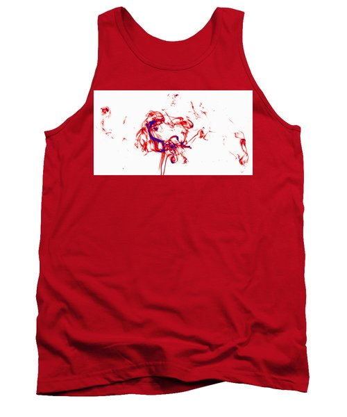 Red And Blue Twirrl Tank Top by Rainer Kersten