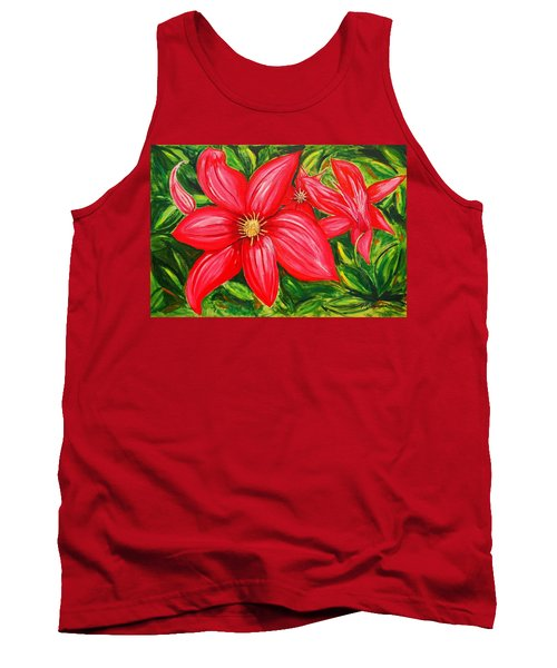 Red And Green Tank Top by J R Seymour