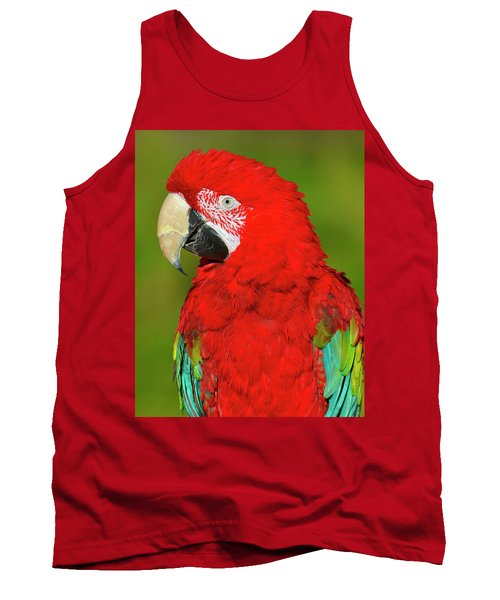 Tank Top featuring the photograph Red And Green by Tony Beck