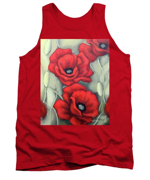 Red And Grey Tank Top by Inese Poga