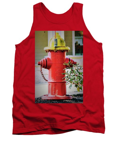 Red And Yellow Hydrant Tank Top