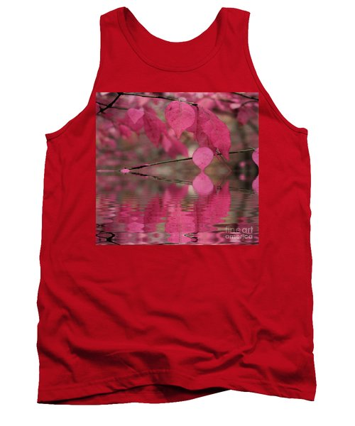 Red Autumn Leaf Reflections Tank Top