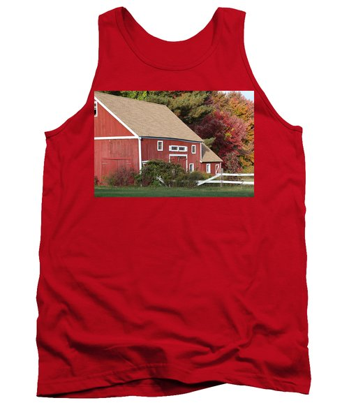 Red Barn Tank Top by Jim Gillen