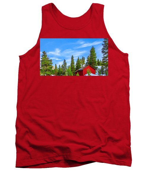 Red Barn On A Hill Tank Top