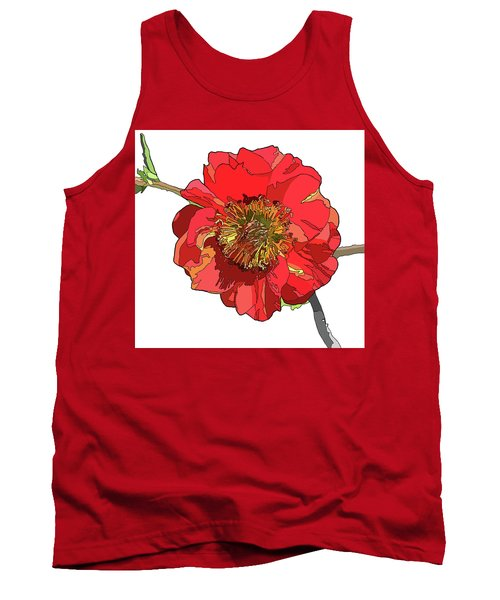 Red Blossom Tank Top by Jamie Downs