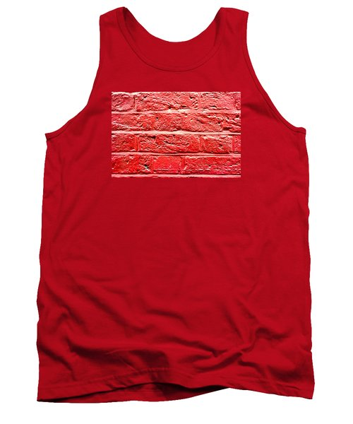 Red Brick Wall Tank Top