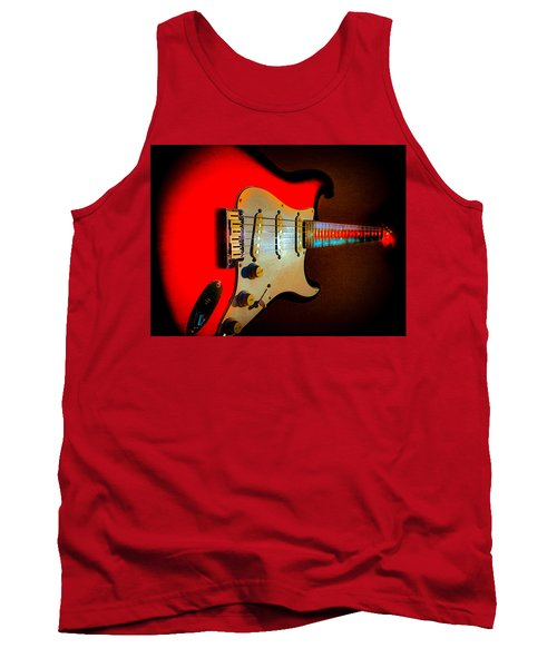 Red Burst Stratocaster Glow Neck Series Tank Top