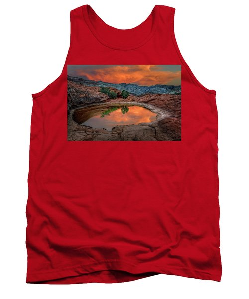 Red Canyon Reflection Tank Top