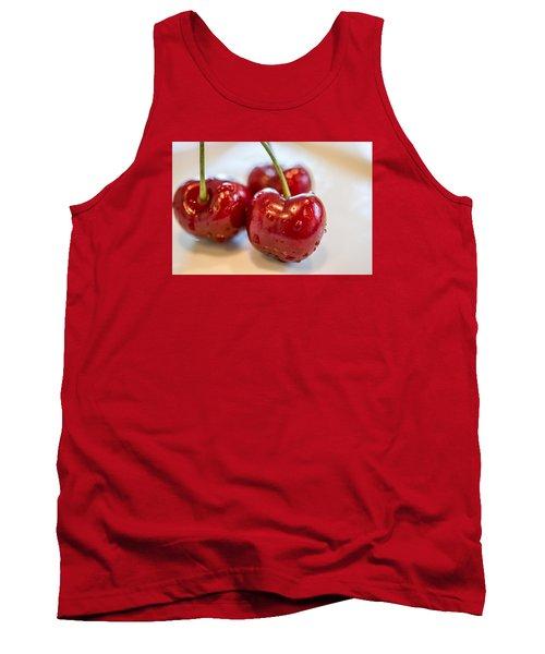Red Cherries Tank Top by Sabine Edrissi