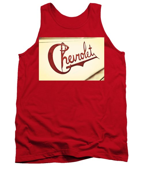 Tank Top featuring the photograph Red Chevy by Caitlyn  Grasso