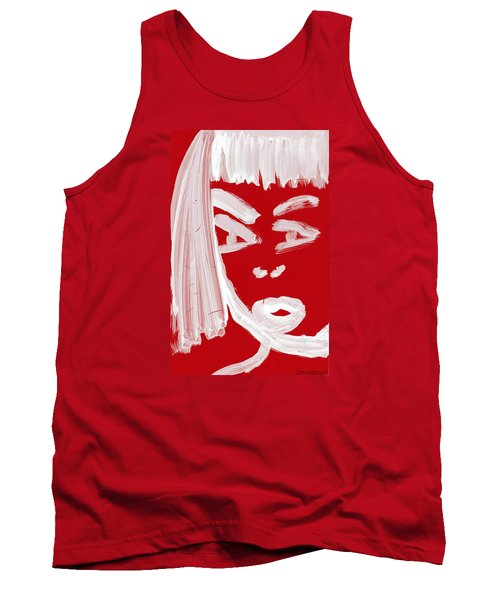Tank Top featuring the painting Red Chinese Girl by Don Koester