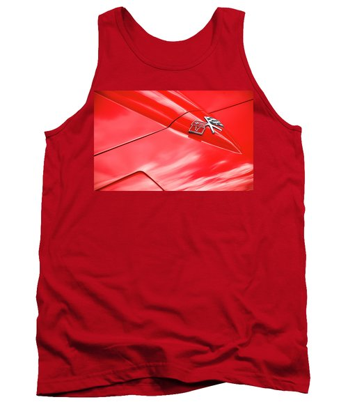 Red Corvette Hood Tank Top